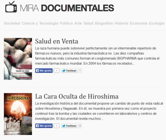 mirar-documentales